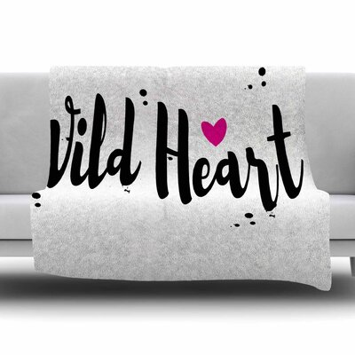 Wild Heart2 by Suzanne Carter Fleece Blanket Size: 80 L x 60 W