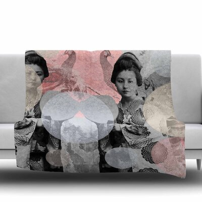 Kyoto Girl by Suzanne Carter Fleece Blanket Size: 80 L x 60 W