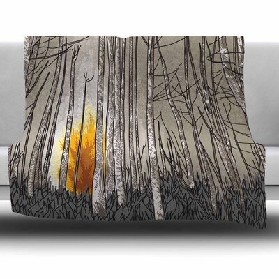 Smokey Forest Fire by Sam Posnick Fleece Blanket Size: 40 L x 30 W