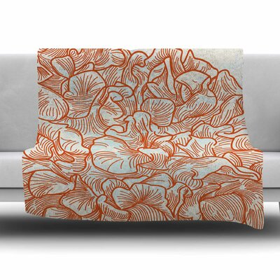 Lettuce Coral by Sam Posnick Fleece Blanket Size: 80 L x 60 W