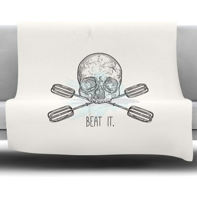 Beat It by Sam Posnick Fleece Blanket Size: 80 L x 60 W