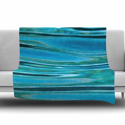 Water by Susan Sanders Fleece Blanket Size: 80 L x 60 W