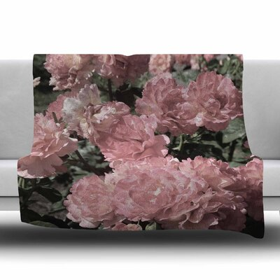 Blush Pink Flowers by Susan Sanders Fleece Blanket Size: 80 L x 60 W