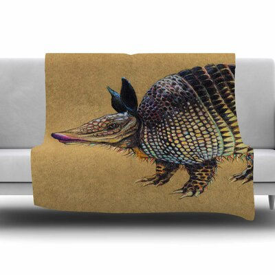 Aramadilio Alebrija by Sophy Tuttle Fleece Blanket Size: 80 L x 60 W