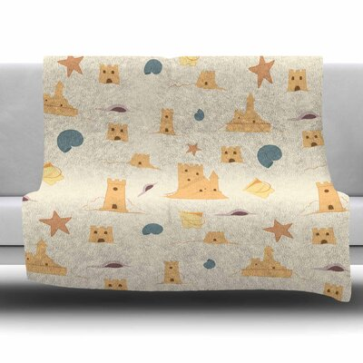 Sandcastles by Stephanie Vaeth Fleece Blanket Size: 80 L x 60 W
