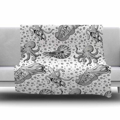 Cephalopods by Stephanie Vaeth Fleece Blanket Size: 80 L x 60 W