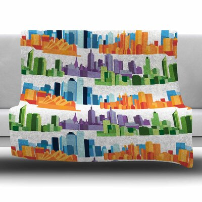 Australian Cities by Stephanie Vaeth Fleece Blanket Size: 80 L x 60 W