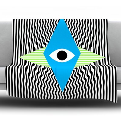 Eye Optical Fleece Throw Blanket Size: 40 L x 30 W