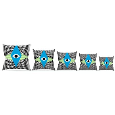 Eye Optical Throw Pillow Size: 16 H x 16 W x 3 D