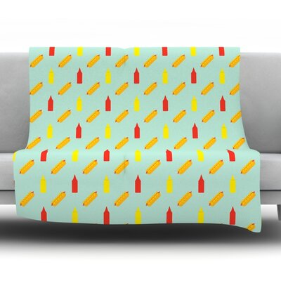 Hot Dog II Fleece Throw Blanket Size: 80 L x 60 W