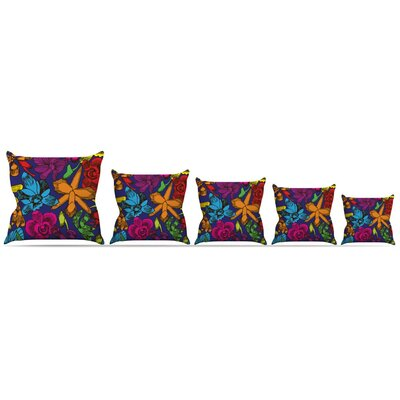 Orchids Festival Throw Pillow Size: 18 H x 18 W x 3 D