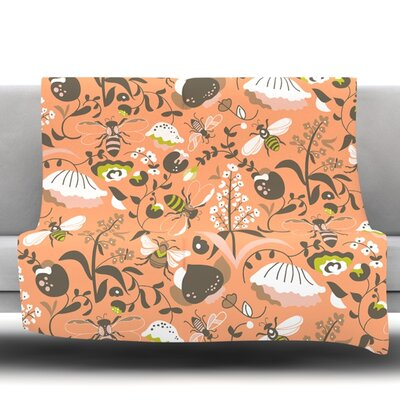 Hope for the Flowers I Fleece Throw Blanket Size: 40 L x 30 W