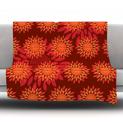 Sunflower Season Fleece Throw Blanket Size: 80 L x 60 W