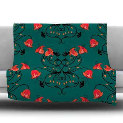 Hummingbird Fleece Throw Blanket Size: 40 L x 30 W