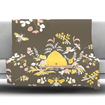 Hope for the Flowers II Fleece Throw Blanket Size: 40 L x 30 W