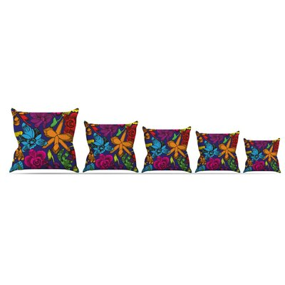 Lovely Orchids Throw Pillow Size: 20 H x 20 W x 4 D