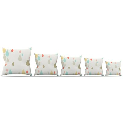 Rainy Days Throw Pillow Size: 16 H x 16 W x 3 D