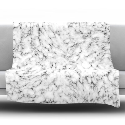 Marble Fleece Throw Blanket Size: 40 L x 30 W