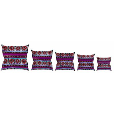Sindhi Ajrak Throw Pillow Size: 16 H x 16 W x 3 D