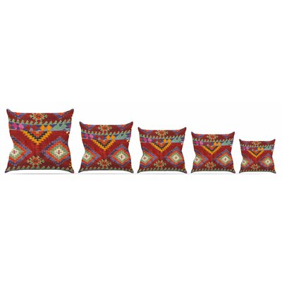 Tapestry Ethnic Throw Pillow Size: 16 H x 16 W x 3 D