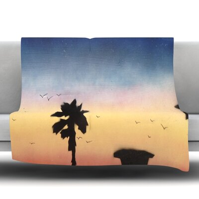 Carlsbad Sunset Fleece Throw Blanket Size: 80 L x 60 W