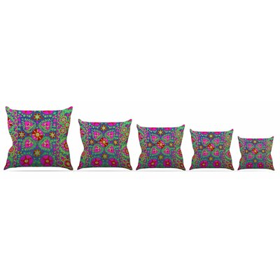 Kashmeer Love Throw Pillow Size: 16 H x 16 W x 3 D