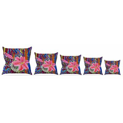 Lily Explosion Throw Pillow Size: 16 H x 16 W x 3 D