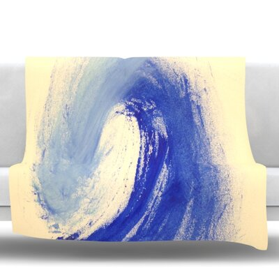 Waveology Fleece Throw Blanket Size: 60 L x 50 W