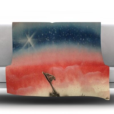 Veterans Day Fleece Throw Blanket Size: 60 L x 50 W