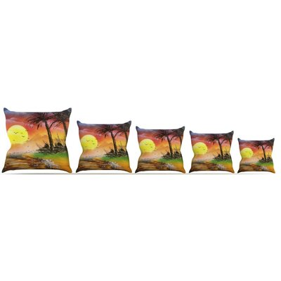 Maui Sunrise Throw Pillow Size: 16 H x 16 W x 3 D