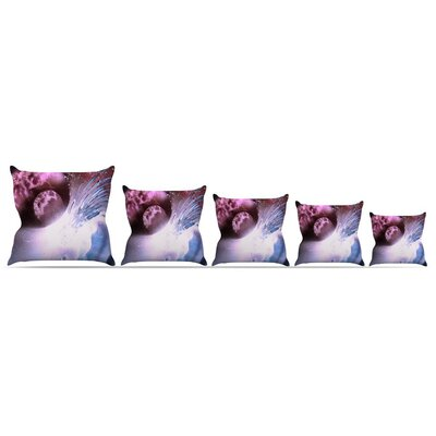 Space Tube Throw Pillow Size: 16 H x 16 W x 3 D