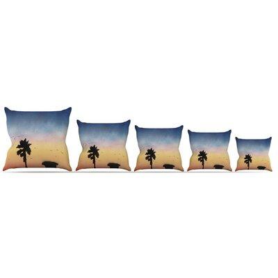 Carlsbad Sunset Throw Pillow Size: 18 H x 18 W x 3 D