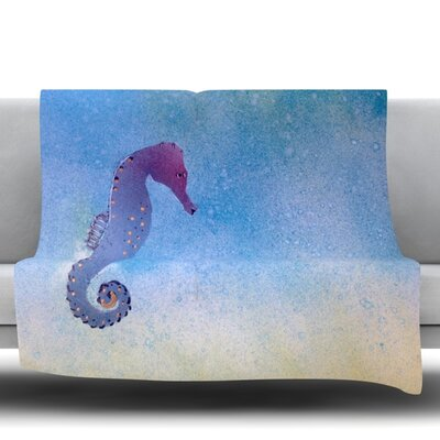 Seahorse Fleece Throw Blanket Size: 80
