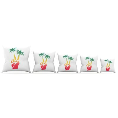 Peace Palms Throw Pillow Size: 18 H x 18 W x 3 D