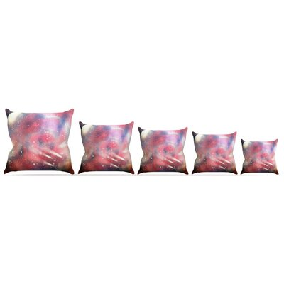 Cascade Swirl Throw Pillow Size: 18 H x 18 W x 3 D