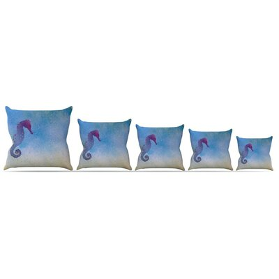 Seahorse Throw Pillow Size: 16