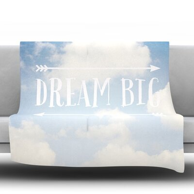 Dream Big Fleece Throw Blanket Size: 40 L x 30 W