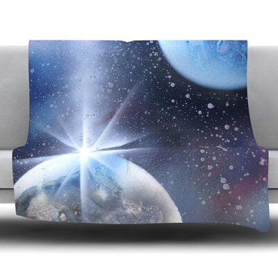 Intergalactic Fleece Throw Blanket Size: 60 L x 50 W