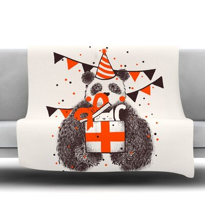 Happy Birthday Fleece Throw Blanket Size: 40 L x 30 W