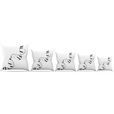 DNA Piano Throw Pillow Size: 16 H x 16 W x 3 D