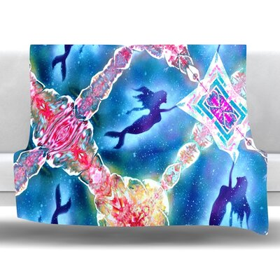 Mermaid Pattern Fleece Throw Blanket Size: 40 L x 30 W