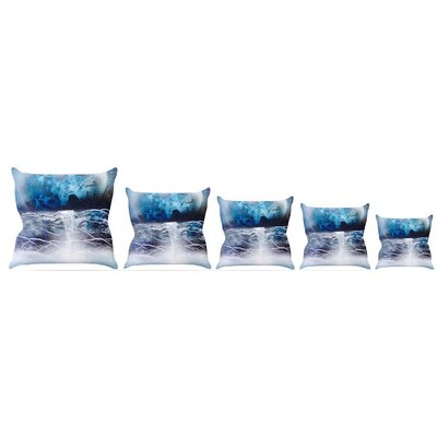 Surreal Falls Throw Pillow Size: 16 H x 16 W x 3 D