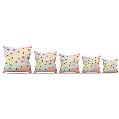 With Dots Throw Pillow Size: 16 H x 16 W x 3 D