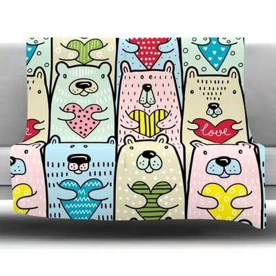 Easter Eggs Fleece Throw Blanket Size: 80 L x 60 W