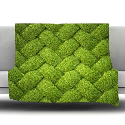 Ivy Basket Fleece Throw Blanket Size: 40 L x 30 W