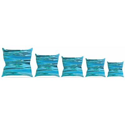 Water Throw Pillow Size: 16 H x 16 W x 3 D