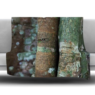 Into the Woods Fleece Throw Blanket Size: 60 L x 50 W