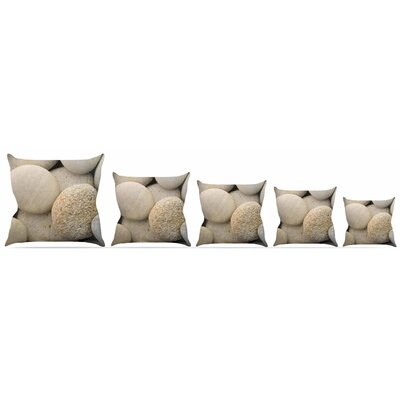 River Stones Throw Pillow Size: 18 H x 18 W x 3 D