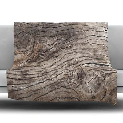 Tree Bark Fleece Throw Blanket Size: 60 L x 50 W