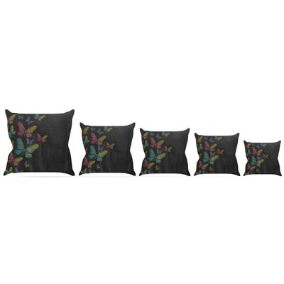 Butterflies Throw Pillow Size: 26 H x 26 W x 5 D